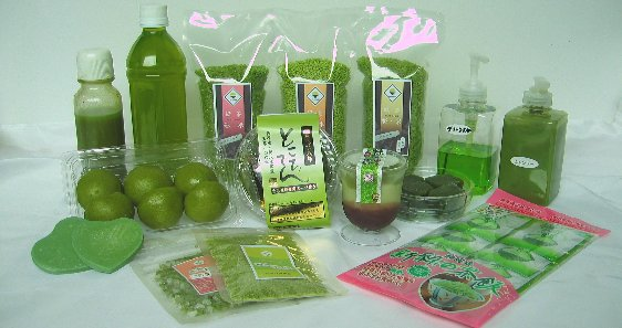 緑茶ペーストを使った製品