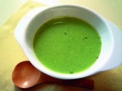 緑茶ペーストを使ったポタージュ
