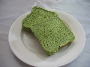 緑茶ペーストを使ったパン